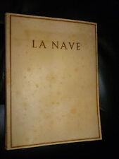 D' ANNUNZIO - LA NAVE - l'Oleandro 1936 LEGATURA  PERGAMENA
