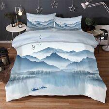 Inkling Ship Lake 3D Printing Duvet Quilt Doona Covers Pillow Case Bedding Sets