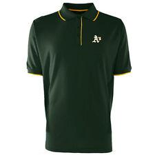 Oakland Athletics Antigua Embroidered Xtra-Lite Elite Dark Pine Polo Golf Shirt
