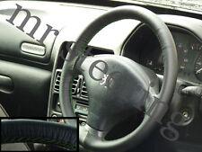 Para Peugeot 206 De Cuero volante cubierta Verde Oscuro