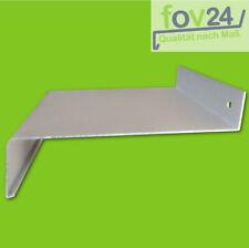 Fensterbank Aluminium silber EV1 50 - 225 mm inkl. Alu Abschluss mit Putzkante