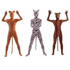 Animal Leopard Zebra Tiger Print Clothing Jumpsuit Cosplay Costumes Zentai Suit