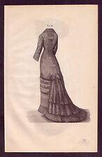1800's Old Vintage Ladies / Women's Victorian Fashion Clothing Art PRINT [#37]