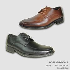 BRAVO New Men Dress Shoe MILANO-2 Classic Oxford Square Moe Toe Leather Lining