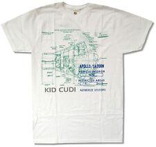 "KID CUDI ""APOLLO/SATURN"" WHITE T SHIRT NEW OFFICIAL ADULT RAP RAPPER"