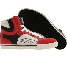 $108 Puma Post Up High ribbon red black white 349271-07 fashion shoes