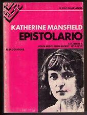 K. Mansfield - EPISTOLARIO - LETTERE A J.MIDDLETON MURRY, 1913-1922