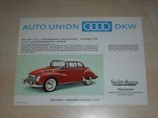 42194) Audi Auto Union 1000 Prospekt 195?