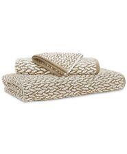 New Ralph Lauren Sanders 100% Cotton One Hand Towel Tan or Pewter Grey 16 x 30