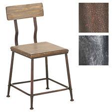 Chaise de bistrot QUEENS bois métal atelier pub cuisine salle à manger loft neuf