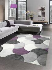 Tapis de salon design tapis court pile gouttes gris lilas beige violet