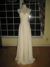 J Crew Alegra Silk Tricotine Wedding Gown Dress Sz 0 14, NWoT Ivory 22516 $600