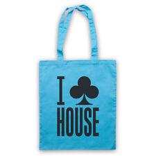 I CLUB HOUSE DANCE MUSIC SLOGAN COOL CLUBBING DJ SHOULDER TOTE SHOP BAG
