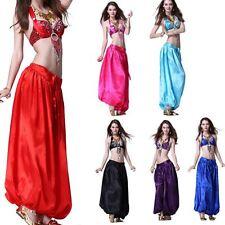 UK NEW Satin Harem pant Yoga Pants Belly Dance Costume Dress Pants Trousers Wear