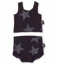 NUNUNU Tankini Bikini Badeanzug schwarz Sterne urban 104 110 116 122 128 134