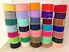 "1 1/2"" Wide Organza Ribbon Sheer 25 Yards Spools Sewing Wedding Crafts New"