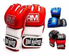 MMA Gants cuir Grappling Sac de frappe Mitaines COMBAT COUP DE PIED entraînement