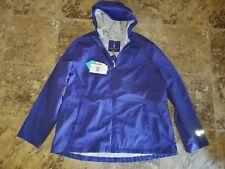 Nwt Womens Free Country Waterproof Rain Jacket Coat Fashion Classic Purple 2XL