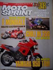 Motosprint 46 1990 Roche- Ducati è mondiale. Chili in 250 con Aprilia. Yamaha850
