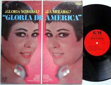 GLORIA MIRABAL LP Autographed! GLORIA DE AMERICA latin