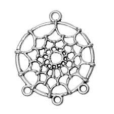 10 Tibetan Silver 34mm Boho Dream Catcher Connector Charm Pendant (50265)