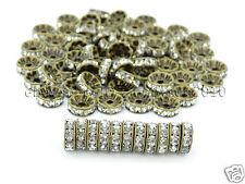 100P Czech Crystal Rhinestones Bronze Rondelle Spacer Beads 4mm 5mm 6mm 8mm 10mm