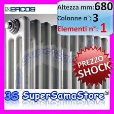 3S CALORIFERO RADIATORE TUBOLARE ACCIAIO BIANCO H 680 3 Colonne 1 Elemento NUOVO