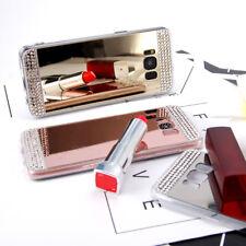 Handy Schutz Glitzer Hülle Spiegel Strass Silikon Samsung iPhone Case Bumper