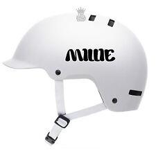 2 x autocollants Nom Personnalisé pour casques de vélo enfant Autocollant Vinyle police BMX Enfants