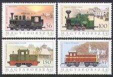 Hungary 2001 Trains/Railways/Rail/Steam Engines/Locomotives/Transport 4v n34470