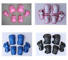 Kid's Roller Blading Wrist Elbow Knee Pads Blades Guard 6 PCS Set 4 colors Gift