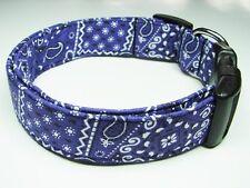 Charming Purple Bandana Adjustable Standard Dog Collar