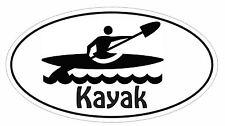 Kayak Oval Bumper Sticker or Helmet Sticker D2995 Euro Oval