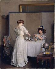 William McGregor Paxton, Tea Leaves Giclee Canvas Print