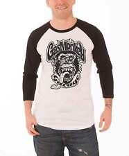 Gas Monkey Garage Shirt 04 Dallas Logo Official Mens New White Baseball Shirt