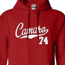 Camaro 74 Script & Tail HOODIE - Hooded 1974 Muscle Car Sweatshirt All Colors