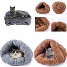 Puppy Pet Cat Dog Cozy Soft Fluff Nest Bed Warm Cave House Sleeping Bag Mat Pad