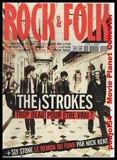 """ROCK & FOLK  #409 """"THE STROKES, Sly Stone, Björk, Java, E.Presley, Mickey 3D..."""