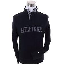 Tommy Hilfiger Men Mock Neck Sweat Shirt Fleece Sweater Jacket - Free $0 Ship