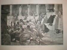 The Death of Caesar P Rochegrosse print 1887