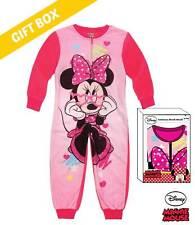 Disney Minnie Jumpsuit Overall Schlafanzug kuschelig Gr. 104 - 128 NEU LIZENZ