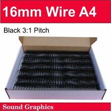 "16mm 5/8"" TWIN LOOP BINDING WIRE 3:1 Pitch 34 Loop Box of 50 - Black/White"