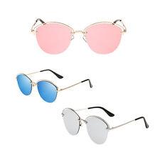 Metal semi-frame fashion Eyeglasses anti-ultraviolet fashion retro sunglasses TR