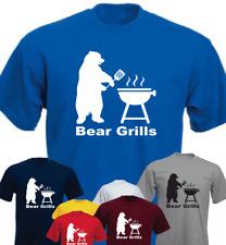 Bear Grills New Funny Joke Barbeque Gift Present t-shirt