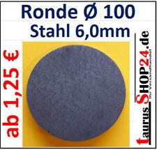 StahlAnkerplatte Q-150x4,0mm 0Loch Edelstahl Ronde 1271 SA150//4//0 mm taurusShop2