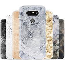 dessana Marmor Design TPU Silikon Schutz Hülle Case Handy Tasche Cover für LG