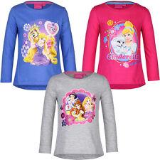 Neu Langarmshirt Mädchen Princess grau pink blau 98 104 110 116 Baumwolle #91