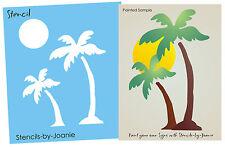 """Palm Tree STENCIL 3"""" Tropical Sun Surf Beach Cafe Hawaii Theme Home Art Signs"""