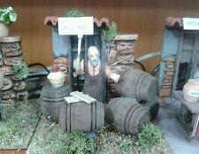 Vineria botti vino mestieri pastore in movimento 7 cm presepe crib Shepherd