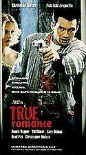 True Romance  (VHS,1993) Unrated Directors Cut
